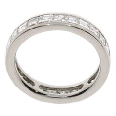 Eternity Carré Diamond Platinum Ring