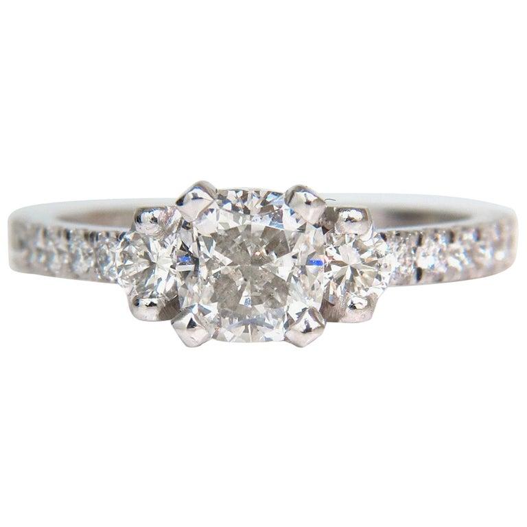 2.01 Carat GIA Cushion Cut Diamond Ring Platinum
