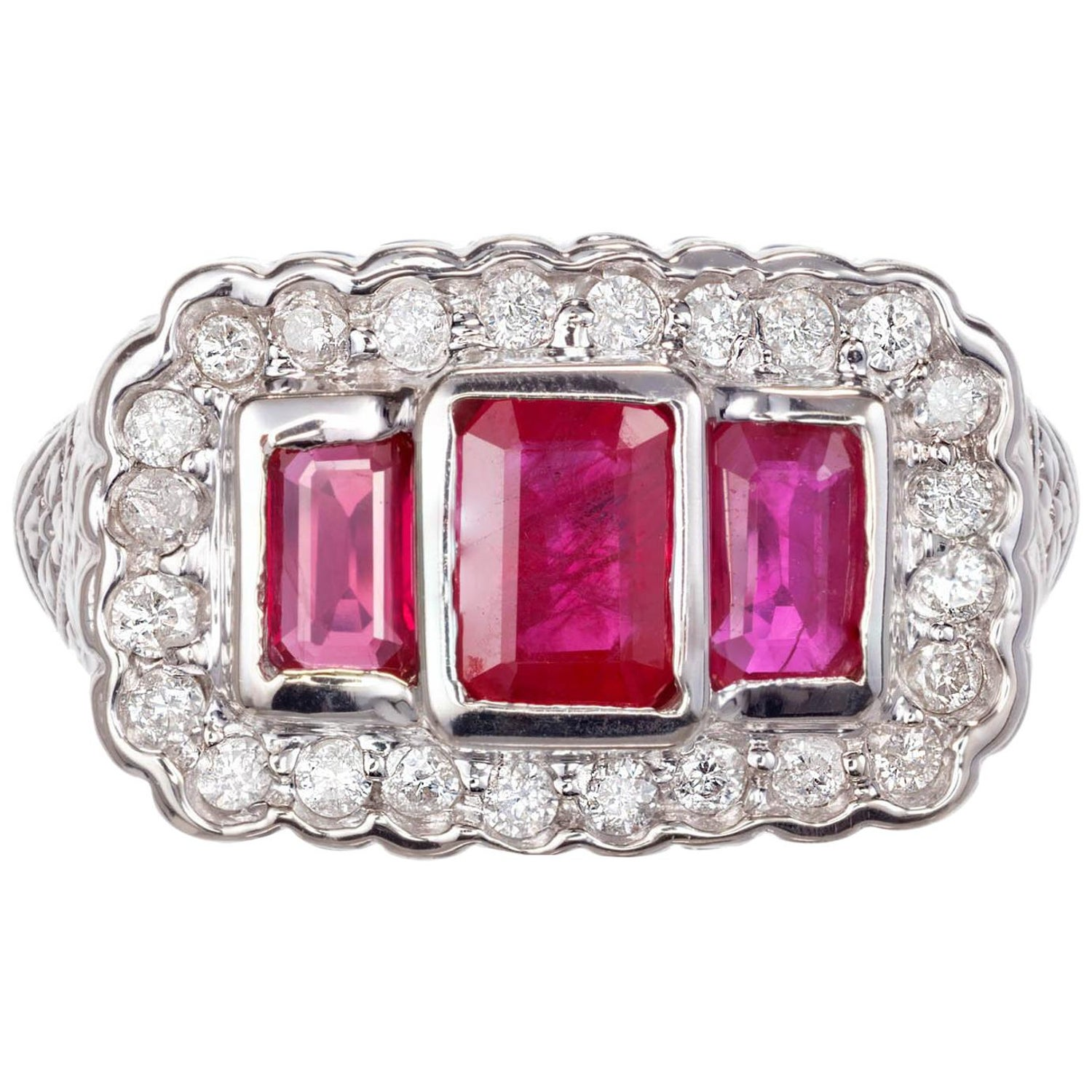 18.62 Carat Sugarloaf African Ruby and Diamond Ring at 1stdibs