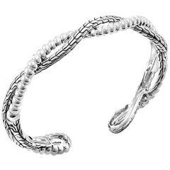 John Hardy Bedeg Collection Twist Kick Cuff All-In Sterling Silver, CB1185XM