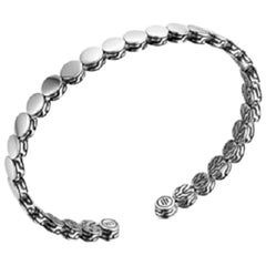 John Hardy Women's Dot Collection Silver Slim Flex Cuff