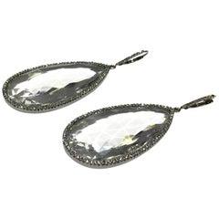 Drop Rock Crystal Earrings