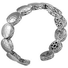 John Hardy Women's Dot Hammered Silver Flex Cuff, CB7150XM