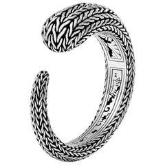 John Hardy Classic Chain Sterling Silver Medium Kick Cuff Bracelet
