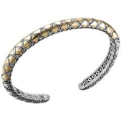 John Hardy Legends Naga Slim Kick Cuff Bracelet Cz65946xm 18 Karat Sterling