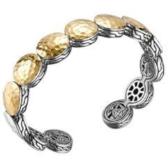 John Hardy Women's Dot Gold and Silver Flex Cuff, CZ7150XM