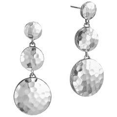 John Hardy Women's Dot Hammered Silver Triple Drop Linear Earrings, EB7209