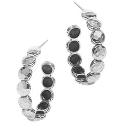 John Hardy Women's Dot Hammered Silver Disc Small Hoop Earrings
