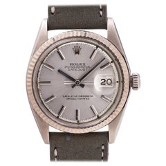 Rolex white gold stainless steel Datejust self winding wristwatch 1601, c1967