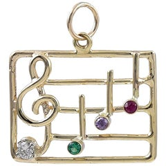 Large Musical Note Dear Charm