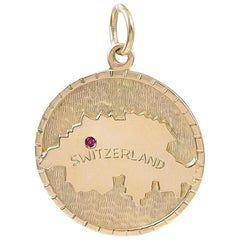 Gold Switzerland Charm