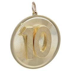 Large Dankner Gold 10 Pendant
