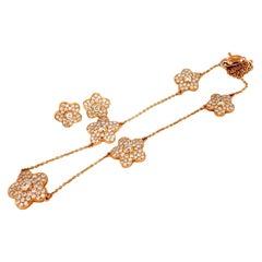 Designer Aspery & Guldag 3.50ct. natural diamonds necklace & earrings 18kt E/vs
