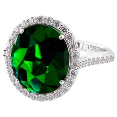 7.00 Carat Oval Emerald Ring