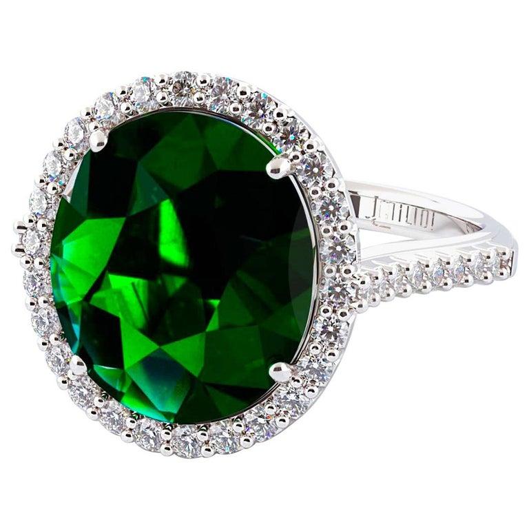 7.00 Carat Oval Emerald Ring