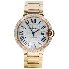 Cartier Ballon Bleu De Watch, 18 Karat Rose Gold, Diamonds