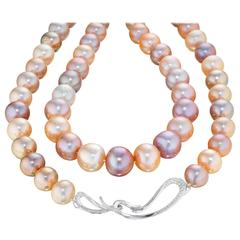 Naomi Sarna Pearl Diamond Gold Necklace