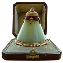 Belle Epoque Gold, Enamel and Moonstone Bell-Push by Faberge
