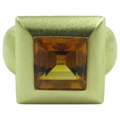 Paul Morelli Citrine and Gold Ring
