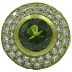 Kiesselstein Cord Peridot, Diamond and Gold Ring