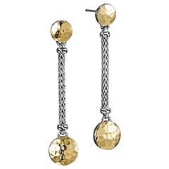 John Hardy Dot Linear Dangle Earrings, EZ7156
