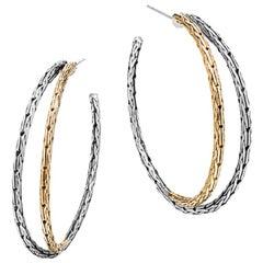 John Hardy Classic Chain Medium Hoop Earrings, EZ97104