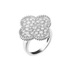 Van Cleef & Arpels White Gold Magic Alhambra Diamond Ring