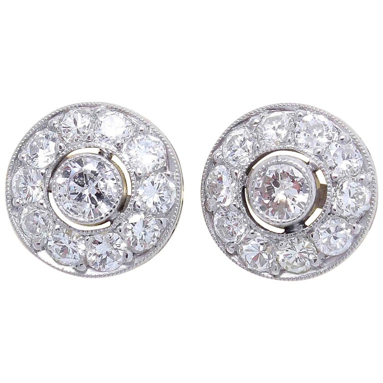 Diamond Platinum Studs