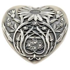 Tiffany & Co. Sterling Silver Floral Heart Locket