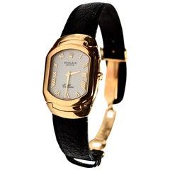 Rolex yellow Gold Cellini Quartz Wristwatch Ref 6633