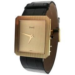 18 Karat Gold Piaget Protocole Watch 9154