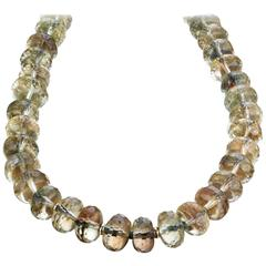 Naomi Sarna Oregon Sunstone Bead Diamond Gold Necklace