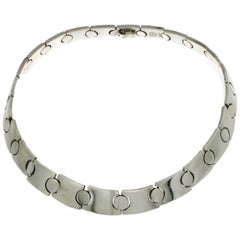 Vintage Chunky Link 143 Gr Heavy 925 Sterling Silver Necklace