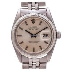 Rolex Stainless Steel Datejust self winding wristwatch Ref 1601, circa 1971