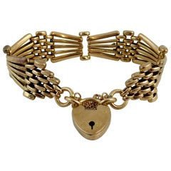 Late Victorian, Early Edwardian Rose Gold Gate Bracelet, circa 1900