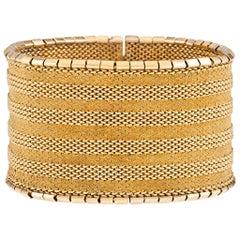 Retro Russian 22 Karat Gold Link Bracelet