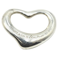 Ladies Sterling Silver Elsa Perreti Tiffany & Co. Floating Heart Pendant