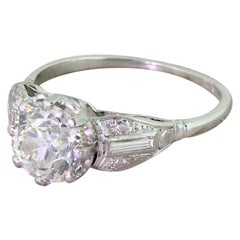 Art Deco 2.00 Carat Old Cut Diamond Engagement Ring