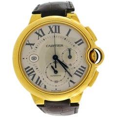 Cartier Yellow Gold Ballon Bleu Chronograph automatic Wind Wristwatch