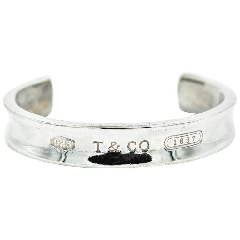 ac6e3eeb38af9 Tiffany & Co. Sterling Silver Stitch Evening Wide Cuff Bracelet