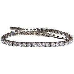 5.18 Carat Natural Diamonds Tennis Bracelet 14 Karat G/Vs 54 Count
