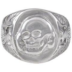 Large Sterling Silver Skull Ring