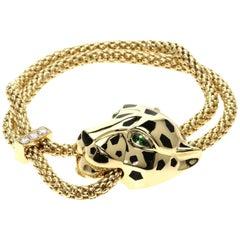 Cartier Panthère de Bracelet, Gold, Lacquer, Diamond, Tsavorite Garnets, Onyx