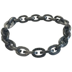 Todd Reed Silver Patina Finish Bracelet with Black Diamond