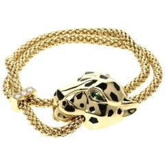 Cartier Panthère de Bracelet, Gold Lacquer, Diamond, Tsavorite Garnets, Onyx