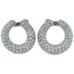 18 Karat White Gold Diamond Earrings