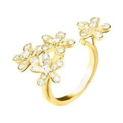 Van Cleef & Arpels Socrate between the Finger Ring, Yellow Gold, Round Diamonds