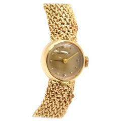 Ladies Vintage Tiffany & Co. 14 Karat Yellow Gold Watch