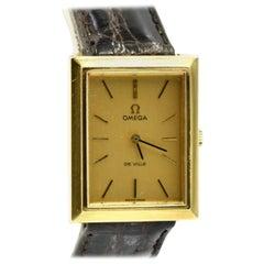 Vintage 14 Karat Yellow Gold Omega DeVille Watch Caliber 625, circa 1975