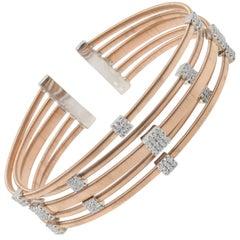Gem Gallery Multi-Cable Diamond Bangle